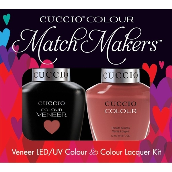 Cuccio Match Makers - Boston Cream Pie Kit - 1 Nail Lacquer + 1 Matching Veneer Soak Off LEDUV Nail Colour 0.43 oz. Each (663262)