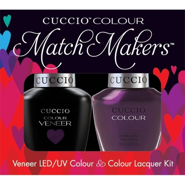 Cuccio Match Makers - Brooklyn Never Sleeps Kit - 1 Nail Lacquer + 1 Matching Veneer Soak Off LEDUV Nail Colour 0.43 oz. Each (663263)