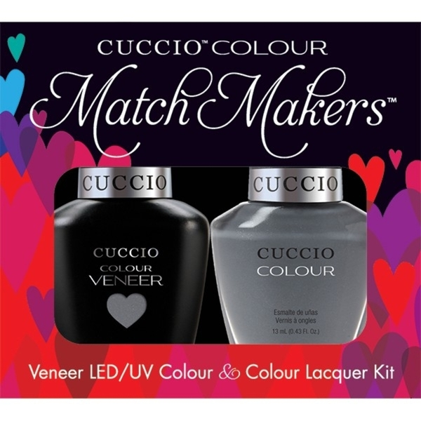 Cuccio Match Makers - Soaked In Seattle Kit - 1 Nail Lacquer + 1 Matching Veneer Soak Off LEDUV Nail Colour 0.43 oz. Each (663271)