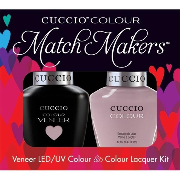 Cuccio Match Makers - Longing for London Kit - 1 Nail Lacquer + 1 Matching Veneer Soak Off LEDUV Nail Colour 0.43 oz. Each (663275)