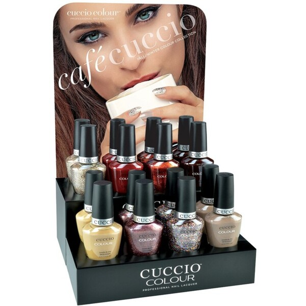 Cuccio Colour Nail Lacquer - Cafe Cuccio 16 Bottle Countertop Display (663437)