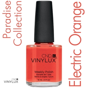 CND VINYLUX 2014 Paradise Summer Collection - Electric Orange 0.5 oz. (800349)