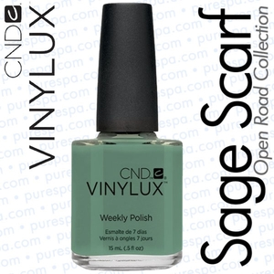 CND VINYLUX Spring 2014 Open Road Collection - Sage Scarf 0.5 oz. (800402)