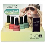 CND VINYLUX Spring 2014 Open Road Collection Display - 5 Polishes+ 5 Top Coats + Display (801330)