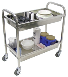 "Stainless Steel Esthetician's Cart - Large 2 Shelves 35.5""W x 19""D x 35.5""H (SST2L)"