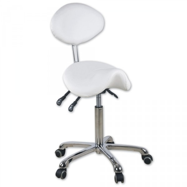 True Saddle Stool Deluxe With Back (EF125)