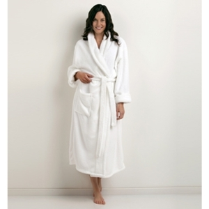 Shawl Collar Velsoft Bathrobe by The Turkish Towel Company ()