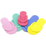 Disposable Foam Pedi Slippers - Assorted Colors - Mega Pack Case of 360 Pair (LS-PSLP-360)