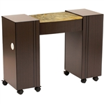 Roosevelt Manicure Table - Partial Granite Marble Top (VN LS111 A2GS)