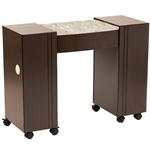 Roosevelt Manicure Table - Partial Vanilla Marble Top (VN LS111 A2VS)