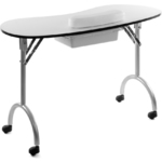 Adrianus portable folding manicure table td8271 for Folding nail technician table