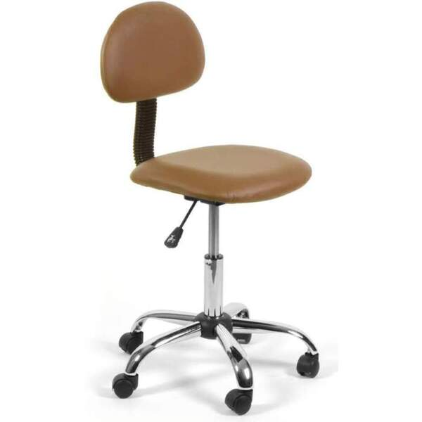 "Lola Technician Stool - Cappuccino or Burgundy Adjustable Seat Height: 16.5"" - 21.5"" (LSH-637)"