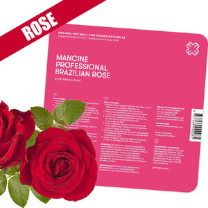 Brazilian Rose Hot Wax - Stripless - Australia's No.1 Natural XXX Hard Wax / 1.1 lbs. (DHWBR)