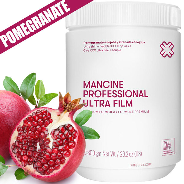 Ultra Film Pomegranate-Jojoba Strip Wax - Strip Wax - Superior Grip - Ultra Thin Flexible XXX Wax 1 kg. 2.2 lbs. (DSWUFMPJ)