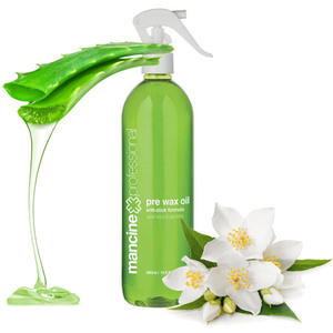 Prewax Oil with Aloe Vera & Jasmine - Anti-Stick Formula 500 mL. 16.8 oz. (DPWO)