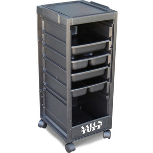 Econo Cart with Open Front 4 Trays by SalonTuff (EC)