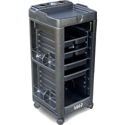 Maxi Cart with Open Front and Built-In Appliance Holder 4 Trays by SalonTuff (MC)