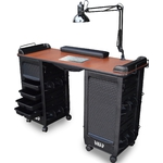 Capri Vented Manicure Table with Double Storage by SalonTuff (CVDMT)