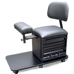 Pedi-Assist Complete Rolling Storage with Padded Seat Back Rest Adjustable Foot Rest and Foot Bath Platform by SalonTuff (PA-C)