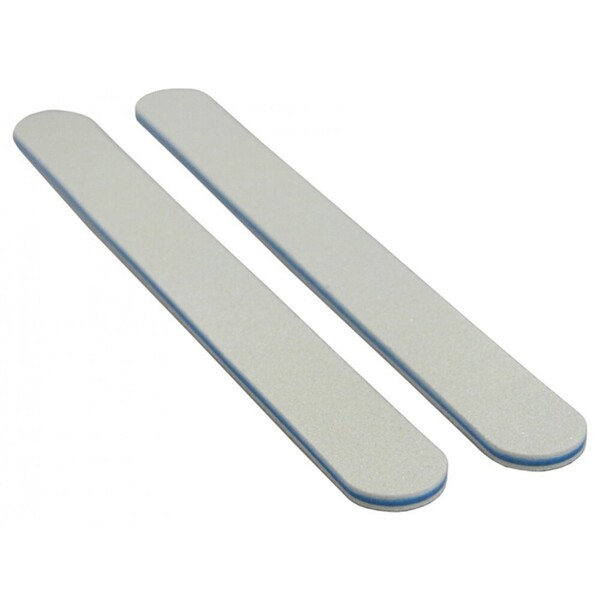 Color Cushion Nail Files - White 80100 - Blue Center - Washable 2000 Mega Case (10219-cs)