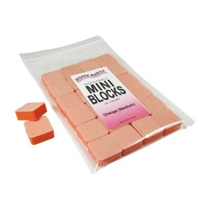 "Disinfectable Orange Sponge Board Nail Files - 180180 Medium - 1"" Mini Block 1512 Mega Case (10199-cs)"