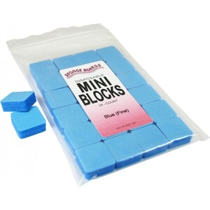 "Disinfectable Blue Sponge Board Nail Files - 240240 Fine - 1"" Mini Block 1512 Mega Case (10201-cs)"