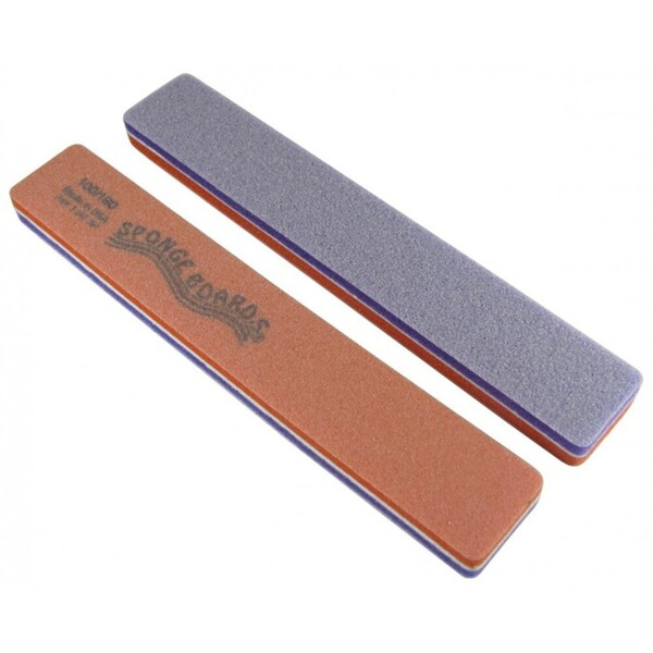 "Disinfectable PurpleOrange Sponge Board Nail Files - 100180 CoarseMedium - 1-18"" Jumbo 750 Mega Case (10075-cs)"