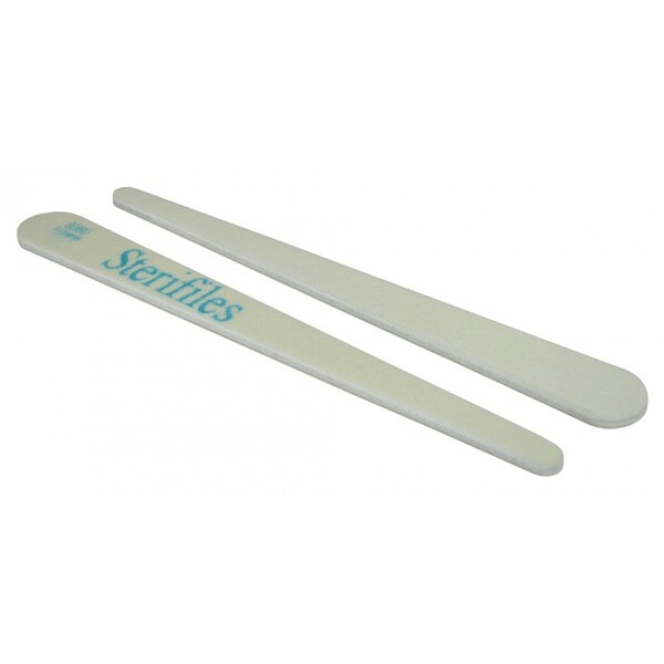 Disinfectable Sterifiles Nail Files - 8080 Mylar - White Center - - Tapered 2000 Mega Case (10086-cs)