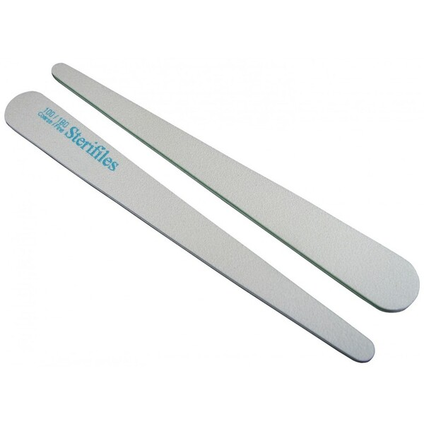Disinfectable Sterifiles Nail Files - 100180 Mylar - Lime Center - - Tapered 2000 Mega Case (10088-cs)