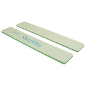 "Disinfectable Sterifiles Nail Files - 100180 Mylar - Lime Center - 1 18"" Wide Jumbo 1400 Mega Case (10092-cs)"