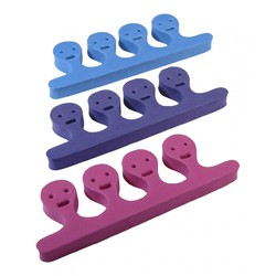 SmileyFace Toe Separators - Mixed Colors 432 pairs Mega Case (10183-cs)