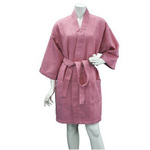Women's Knee Length Square Waffle Kimono Robe - Lilac 65% Natural Cotton and 35% Polyester (2WK9XLI)