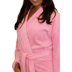 Terry Kimono Robe - Pink 100% Cotton Terry Cloth Inside & Outside (2TKXXPI)