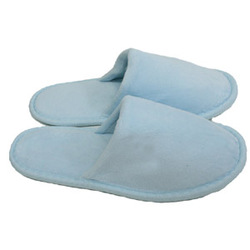 Unisex Closed Toe Terry Velour Slippers - Sky Blue 100% Cotton Terry Velour (3TV20SB)