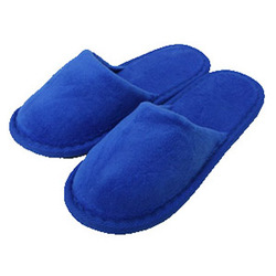 Kid's Closed Toe Terry Velour Slippers - Royal Blue 100% Absorbent Top Quality Natural Cotton (3KV21RY)