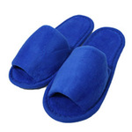 Kid's Open Toe Terry Velour Slippers - Royal Blue 100% Absorbent Top Quality Natural Cotton (3KV11RY)