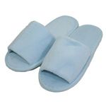 Kid's Open Toe Terry Velour Slippers - Sky Blue 100% Absorbent Top Quality Natural Cotton (3KV11SB)