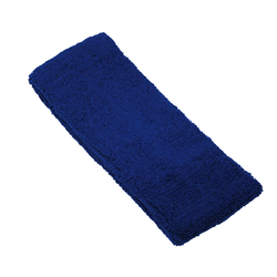 "Elastic Terry Headbands - Navy 100% Terry Cotton with Elastic - 2.5""X 7"" 1 Dozen (5HB30NV)"