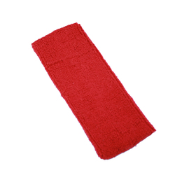 "Elastic Terry Headbands - Red 100% Terry Cotton with Elastic - 2.5""X 7"" 1 Dozen (5HB30SB)"