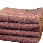 "Salon Towel - 1 Dozen - 16"" x 27"" - Brown 100% Natural Cotton (1ST10BR)"