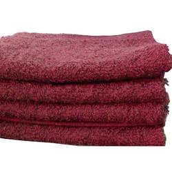 "Salon Towel - 1 Dozen - 16"" x 27"" - Burgundy 100% Natural Cotton (1ST10BG)"