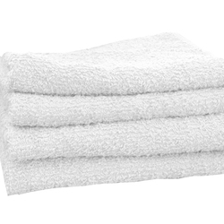 "Salon Towel - 1 Dozen - 16"" x 27"" - White 100% Natural Cotton (1ST10WH)"