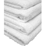 "Economy Hand Towels - 1 Dozen - 16"" x 27"" - White 86% Ring Spun Cotton 14% Polyester (1HT10WH)"