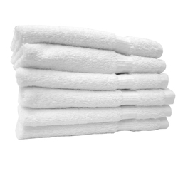 "Turkish Cotton Wash Cloths - 1 Dozen - 13"" x 13"" - White 100% Turkish Cotton Terry Cloth (1WC30WH)"