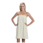 Women's Microfiber Bath Wrap Towel - Beige 65% Natural Cotton 35% Polyester (4BW30BG)