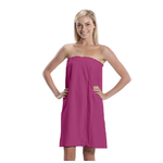 Women's Microfiber Bath Wrap Towel - Fuchsia 65% Natural Cotton 35% Polyester (4BW30FC)
