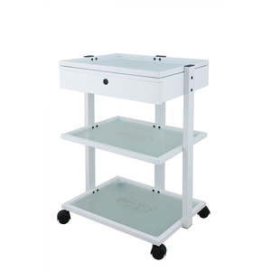 Lotta Beauty Trolley with Locking Drawer and 3 Glass Shelves (1040A)