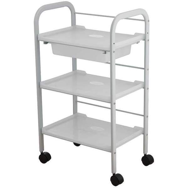 Eleina 3 Shelf + 1 Drawer All-Purpose Trolley (1016)