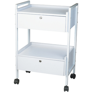 Gisela 2 Shelf + 2 Locking Drawer Beauty Trolley (1019)