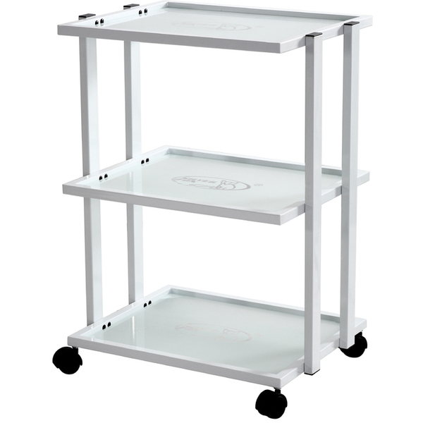 Briana 3 Shelf Metal and Glass Trolley (1041)
